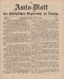 Amts-Blatt der Königlichen Regierung zu Danzig, 15. April 1893, Nr. 15