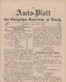 Amts-Blatt der Königlichen Regierung zu Danzig, 29. April 1893, Nr. 17