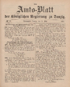 Amts-Blatt der Königlichen Regierung zu Danzig, 13. Mai 1893, Nr. 19