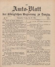 Amts-Blatt der Königlichen Regierung zu Danzig, 27. Mai 1893, Nr. 21