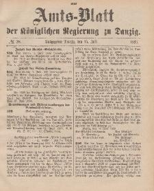 Amts-Blatt der Königlichen Regierung zu Danzig, 15. Juli 1893, Nr. 28