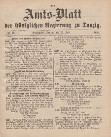 Amts-Blatt der Königlichen Regierung zu Danzig, 22. Juli 1893, Nr. 29
