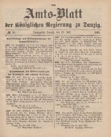 Amts-Blatt der Königlichen Regierung zu Danzig, 29. Juli 1893, Nr. 30