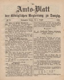 Amts-Blatt der Königlichen Regierung zu Danzig, 5. August 1893, Nr. 31