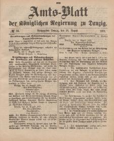 Amts-Blatt der Königlichen Regierung zu Danzig, 26. August 1893, Nr. 34