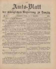 Amts-Blatt der Königlichen Regierung zu Danzig, 2. September 1893, Nr. 35