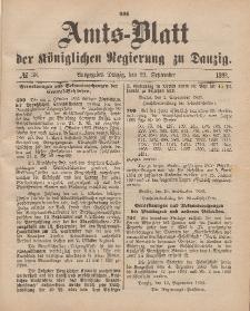 Amts-Blatt der Königlichen Regierung zu Danzig, 23. September 1893, Nr. 38