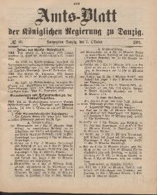 Amts-Blatt der Königlichen Regierung zu Danzig, 7. Oktober 1893, Nr. 40