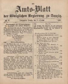 Amts-Blatt der Königlichen Regierung zu Danzig, 21. Oktober 1893, Nr. 42