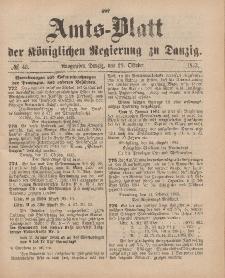 Amts-Blatt der Königlichen Regierung zu Danzig, 28. Oktober 1893, Nr. 43