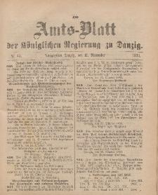 Amts-Blatt der Königlichen Regierung zu Danzig, 11. November 1893, Nr. 45