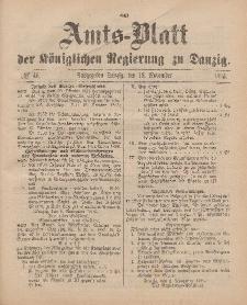 Amts-Blatt der Königlichen Regierung zu Danzig, 18. November 1893, Nr. 46