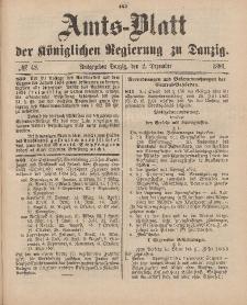 Amts-Blatt der Königlichen Regierung zu Danzig, 2. Dezember 1893, Nr. 48