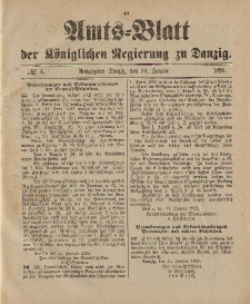 Amts-Blatt der Königlichen Regierung zu Danzig, 28. Januar 1899, Nr. 4