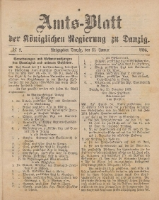 Amts-Blatt der Königlichen Regierung zu Danzig, 13. Januar 1894, Nr. 2