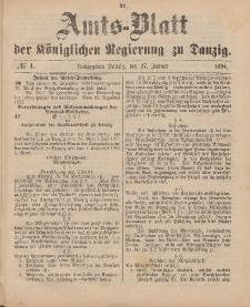 Amts-Blatt der Königlichen Regierung zu Danzig, 27. Januar 1894, Nr. 4
