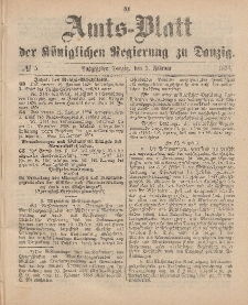 Amts-Blatt der Königlichen Regierung zu Danzig, 3. Februar 1894, Nr. 5