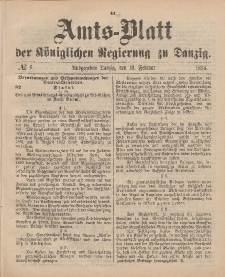 Amts-Blatt der Königlichen Regierung zu Danzig, 10. Februar 1894, Nr. 6