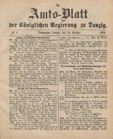 Amts-Blatt der Königlichen Regierung zu Danzig, 24. Februar 1894, Nr. 8