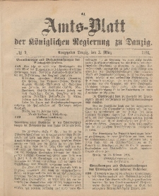 Amts-Blatt der Königlichen Regierung zu Danzig, 3. März 1894, Nr. 9