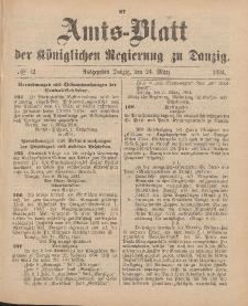Amts-Blatt der Königlichen Regierung zu Danzig, 24. März 1894, Nr. 12