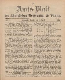 Amts-Blatt der Königlichen Regierung zu Danzig, 14. April 1894, Nr. 15