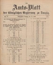 Amts-Blatt der Königlichen Regierung zu Danzig, 19. Mai 1894, Nr. 20