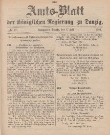 Amts-Blatt der Königlichen Regierung zu Danzig, 7. Juli 1894, Nr. 27