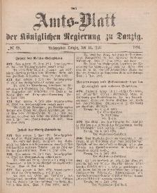 Amts-Blatt der Königlichen Regierung zu Danzig, 14. Juli 1894, Nr. 28