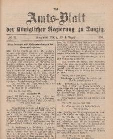 Amts-Blatt der Königlichen Regierung zu Danzig, 4. August 1894, Nr. 31