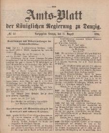Amts-Blatt der Königlichen Regierung zu Danzig, 11. August 1894, Nr. 32