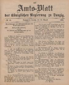 Amts-Blatt der Königlichen Regierung zu Danzig, 25. August 1894, Nr. 34