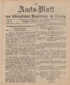 Amts-Blatt der Königlichen Regierung zu Danzig, 22. September 1894, Nr. 38
