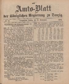Amts-Blatt der Königlichen Regierung zu Danzig, 29. September 1894, Nr. 39