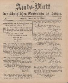 Amts-Blatt der Königlichen Regierung zu Danzig, 13. Oktober 1894, Nr. 41