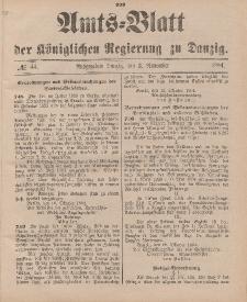 Amts-Blatt der Königlichen Regierung zu Danzig, 3. November 1894, Nr. 44