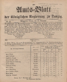 Amts-Blatt der Königlichen Regierung zu Danzig, 17. November 1894, Nr. 46