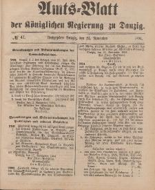 Amts-Blatt der Königlichen Regierung zu Danzig, 24. November 1894, Nr. 47