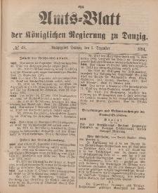 Amts-Blatt der Königlichen Regierung zu Danzig, 1. Dezember 1894, Nr. 48