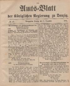 Amts-Blatt der Königlichen Regierung zu Danzig, 8. Dezember 1894, Nr. 49