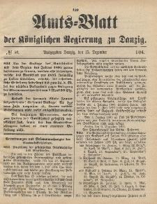 Amts-Blatt der Königlichen Regierung zu Danzig, 15. Dezember 1894, Nr. 50