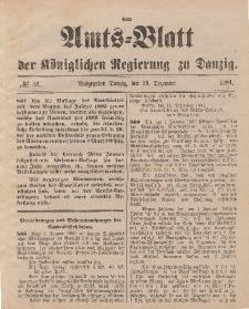 Amts-Blatt der Königlichen Regierung zu Danzig, 29. Dezember 1894, Nr. 52