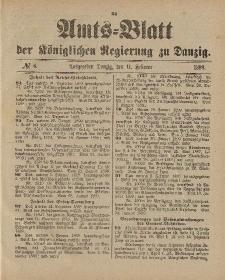 Amts-Blatt der Königlichen Regierung zu Danzig, 11. Februar 1899, Nr. 6