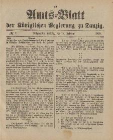 Amts-Blatt der Königlichen Regierung zu Danzig, 18. Februar 1899, Nr. 7