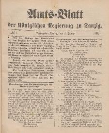Amts-Blatt der Königlichen Regierung zu Danzig, 4. Januar 1896, Nr. 1