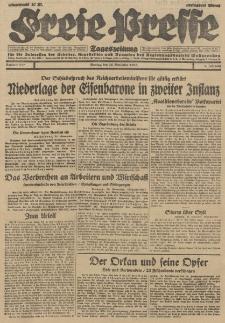 Freie Presse, Nr. 277 Montag 26. November 1928 4. Jahrgang
