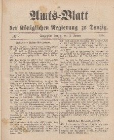 Amts-Blatt der Königlichen Regierung zu Danzig, 11. Januar 1896, Nr. 2