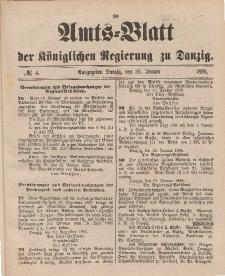 Amts-Blatt der Königlichen Regierung zu Danzig, 25. Januar 1896, Nr. 4