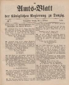 Amts-Blatt der Königlichen Regierung zu Danzig, 1. Februar 1896, Nr. 5