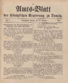 Amts-Blatt der Königlichen Regierung zu Danzig, 22. Februar 1896, Nr. 8